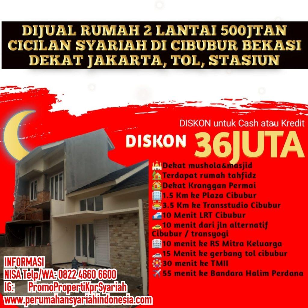 2LT 500JT Jual Rumah KPR Syariah Tanpa BUNGA Riba Di ...